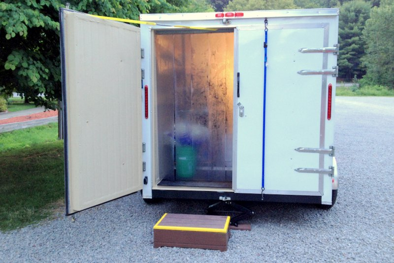 Portable Refrigerated Trailer - Back