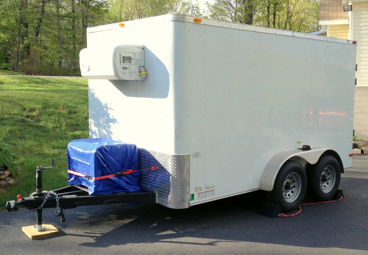 Portable Refrigerated Trailer - Exterior